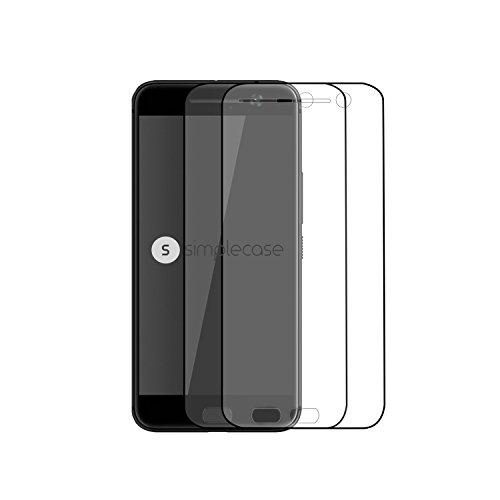 Simplecase Panzerglas passend zu HTC one M10 , Premium Bildschirmschutz , Schutz durch Extra Festigkeitgrad 9H , Hülle Friendly , Echtglas / Verb&glas / Panzerglasfolie , Transparent - 2 Stück