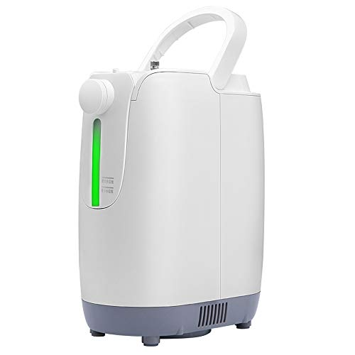 YONG FEI Sauerstoff-Maschine, zu Hause hochauflösendes großer Bildschirm mit einem Zerstäubungsgerät Doppel sauerstoffabsorbierenden tragbaren 1-7L einstellbaren Sauerstoffgenerator, 26x13.7x29.1cm Sa