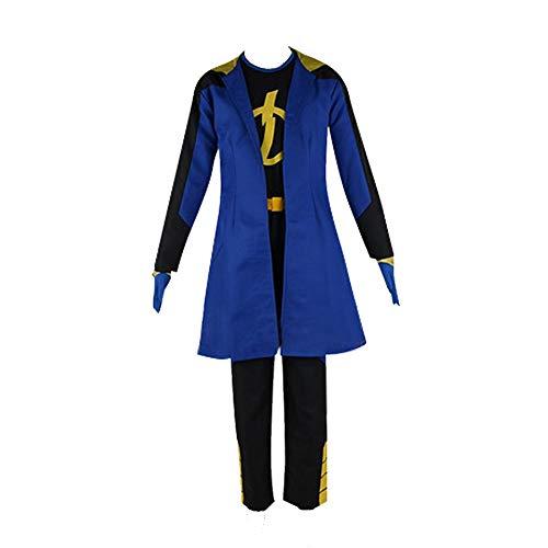 Static Shock Costume Static Cosplay Costume for Men Superhero Costume (XL) Blue