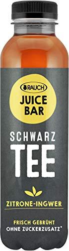 Rauch Juice Bar Schwarztee Zitrone Ingwer ohne Zucker, 12 x 500ml inc. 3,00€ EINWEG Pfand
