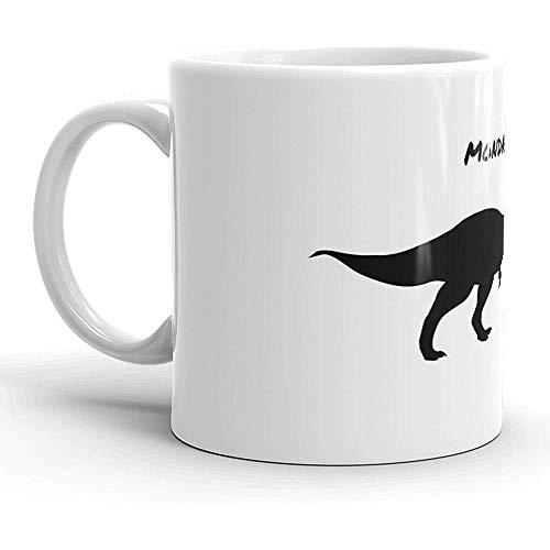 Funny Coffee Mug,Personalized Porcelain Mug,Custom Ceramic Tea Mug Mondays and Me Funny T Rex Dinosaur Running Ceramic Coffee Drinking Mug Print Tea Mug,11 Oz
