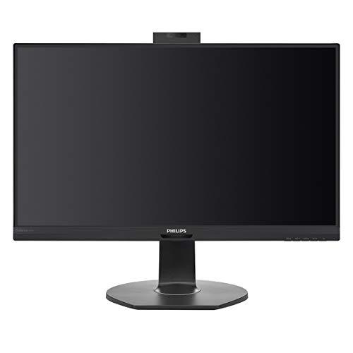 Philips Monitors 241B7QUBHEB - 24 Zoll FHD USB-C Docking Monitor, Webcam, höhenverstellbar (1920x1080, 75 Hz, HDMI, DisplayPort, RJ45, USB Hub) schwarz