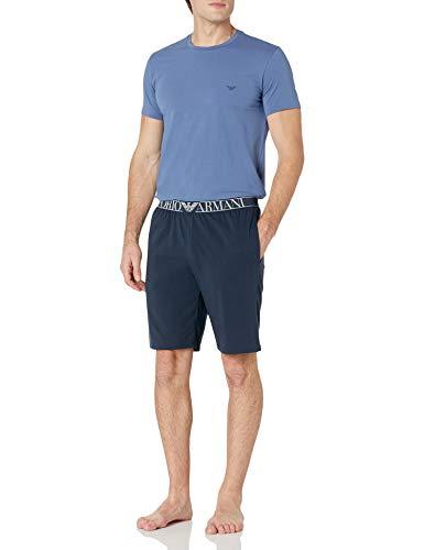 Emporio Armani Herren Pyjamas Pyjama Set, Iris/Marine, Small