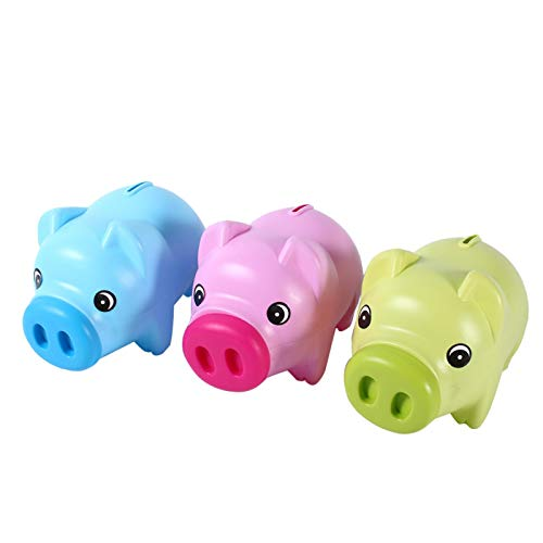 Boaby Caja de Ahorro de Dinero en Efectivo - Linda alcancía de plástico Moneda Dinero en Efectivo Caja de Ahorro Coleccionable Juguete de Cerdo Regalo para niños