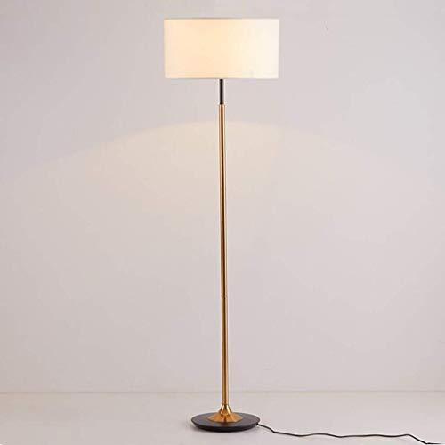 YXYOL Nordic Minimalist Eisen überzog Stehleuchte Stehleuchte, Kreative Stehlampe mit Off-White Stoff Lampenschirm, Wohnzimmer Schlafzimmer Arbeitszimmer Vertikal Stehleuchte
