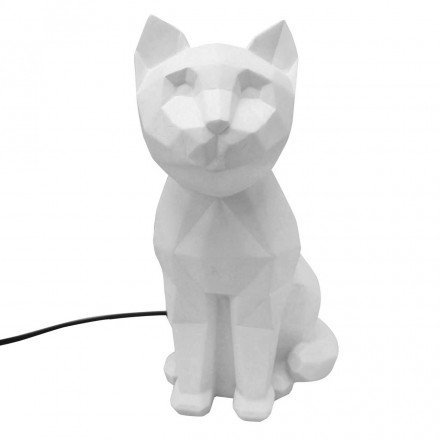House of Disaster Lampe veilleuse Chat Blanc Origami Dimensions : 25 x 15 x 11 cm
