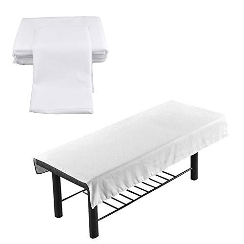 zapture 100 Pcs Disposable Spa Bed Sheets, Disposable Massage Table Sheet, Massage Table Cover, Non-Woven Fabric Bed Cover for Hospital, Nursing Home Or Beauty Salon- 180 X 80 cm