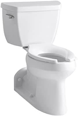 Barrington Comfort Height Two-Piece Elongated 1.0 GPF Toilet with Pressure Lite Flush Technology and Left-Hand Trip Lever, White