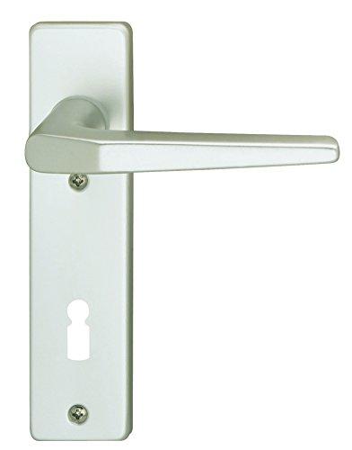 Alpertec 40040510PO Aluminium Florence-Kurzschild Silber eloxiert für Zimmertüren BB 72 mm Drückergarnitur Türdrücker Türbeschläge Neu