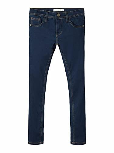 NAME IT Jungen Nkmrobin Dnmthayer 3157 SWE Pant Noos Jeans, Dark Blue Denim, 122