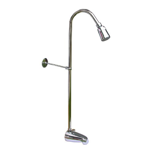 LASCO 08-2141 Add a Shower Diverter Spout with Riser and Shower Head, 3/8-Inch x 50-Inch Riser, Chrome