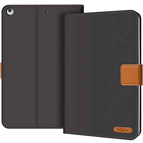 Verco Hülle für iPad Air (2013 Modell), Schutzhülle Tablet Tasche Standfunktion Cover, Schwarz
