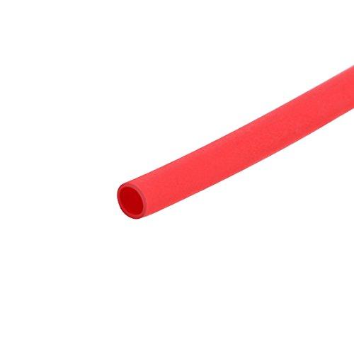 sourcing map Schrumpfschlauch 2:1 Elektrisches Isolationsrohr Rot 0,8mm Durchmesser 5M Länge DE de