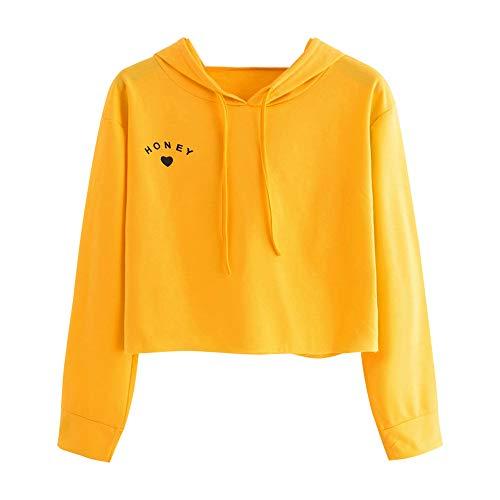 Sudaderas con Capucha Adolescentes Chicas Patchwork Sudaderas para Mujer Tumblr Emoticon Estampado Blusa Tops Camiseta de Manga Larga Hoodie Otoño e Invierno riou