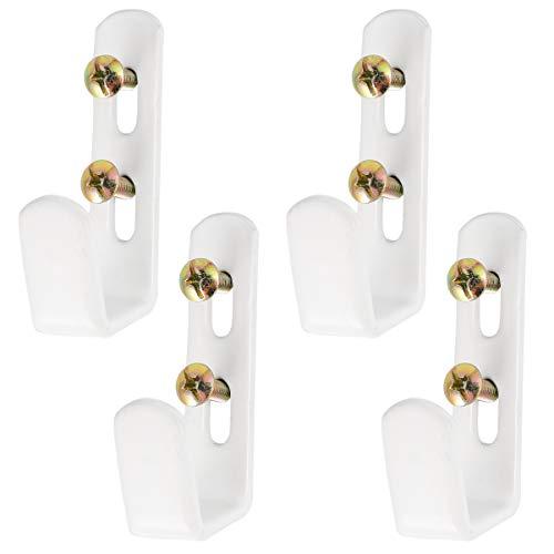 UKCOCO Ganchos para Literas: Ganchos para Escaleras Literas de Hierro Soportes para Escaleras Resistentes Soporte para Escaleras para Dormitorio Dormitorio 4 Piezas