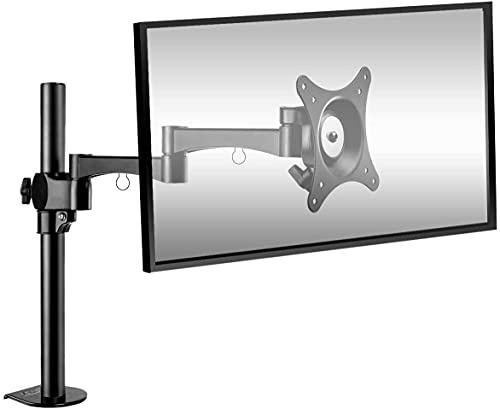 BESTEK Supporto per Monitor LCD LED Supporto da Scrivania o Tavolo per Schermi da 17'-27', ±15° Inclinazione Verticale, 360° Rotazione Orizzontale, VESA 75x75 100x100, Carico Massimo 10kg