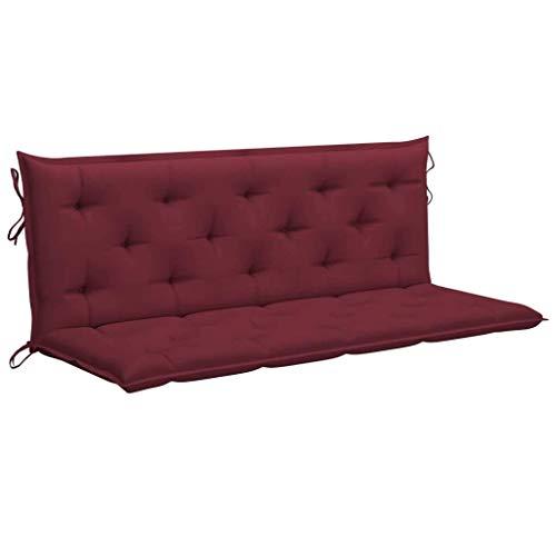 vidaXL Cuscino per Dondolo Rosso Vino 150 cm in Tessuto