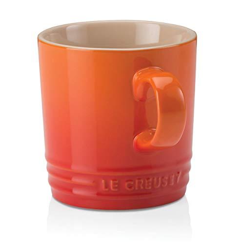 Le Creuset Becher mit Henkel, 200 ml, Steinzeug, 10 cm Höhe, Ofenrot