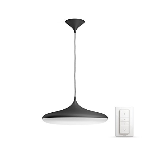 Philips Lighting Hue Cher Lampada a Sospensione Smart, LED Integrato 39 W, Nero, 47.5 x 47.5 x 175 cm