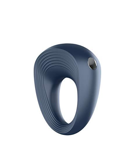 Satisfyer Vibro-Ring, anillo para el pene de silicona con 10 programas de vibración, recargable e impermeable, 2,5-5 cm