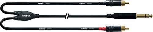 CORDIAL Y-Kabel mit Stereo-Buchse / 2 Cinch 3 m