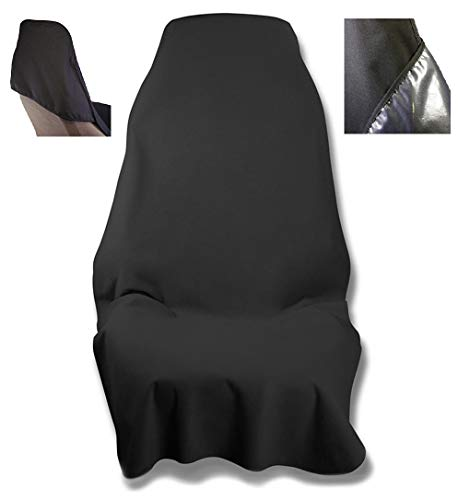 Waterproof SeatShield EliteSport Seat Protector (Black) - Non-Slip Removable Auto Car Seat Cover - Soft Odor-Proof, Guards Leather or Fabric from Sweat, Food, Pets. USA Patented
