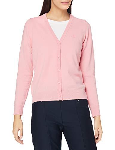 GANT Damen Superfine Lambswool Cardigan Pullover, Preppy PINK, S