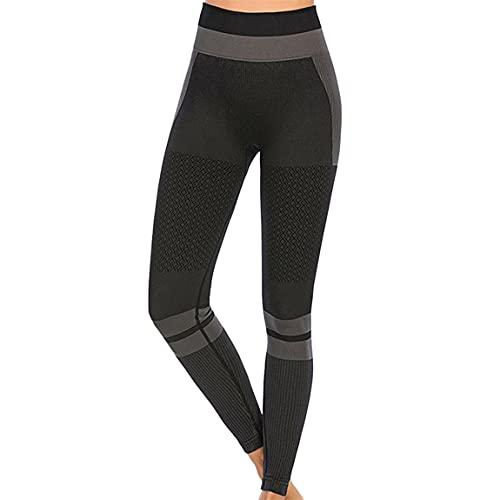 FUQUAN Donna Pantaloni Yoga Fitness Vita Alta Palestra Sportivi Leggings Leggins Pantaloni da Yoga da Donna, Pantaloni da Corsa, Leggings da Jogging, Controllo Pancia Pantaloni della Tuta Traspiranti