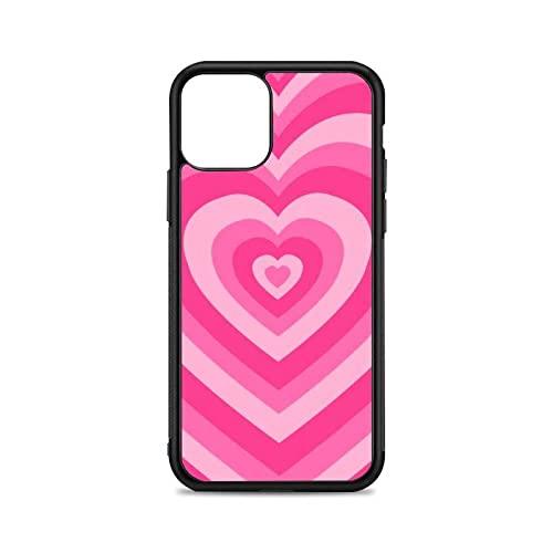 Funda para teléfono Pink Heart para iPhone 12 Mini 11 Pro 13 MAX X XR 6 7 8 Plus SE20 Funda Transparente de Silicona TPU Suave con patrón, A1, para 7Plus u 8 Plus