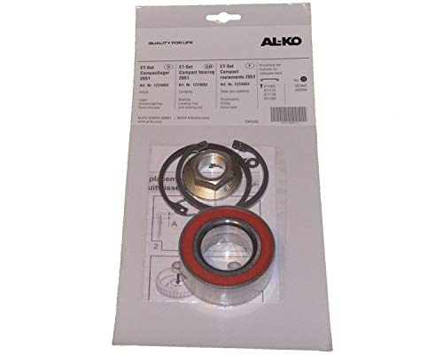 FKAnhängerteile 1 x ALKO Radlager 1224803 Lager 72/39x37 mm + Zubehör - Kompaktlager Ecolager