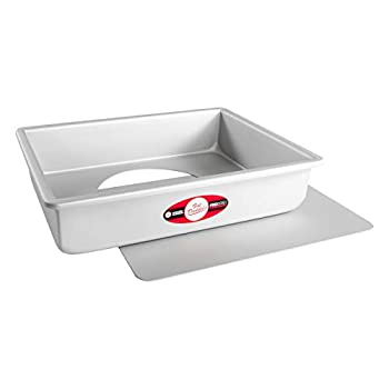 Fat Daddio s Sheet Cheesecake Pan with Removable Bottom Anodized Aluminum 9 x 13 x 3 Inch Silver