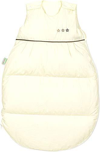 Set Odenwälder Daunen-Schlafsack mit Stoffwindel von Kinderhaus Blaubär/Baby Winterschlafsack mit Premiumdaunen & atmungsaktiv & längenverstellbar, Größe:110, Design:natur
