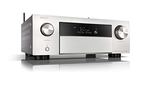 Denon AVC-X4700H - Amplificatore AV a 9.2 canali, compatibile con Alexa, 8 ingressi HDMI e 3 uscite video 8K, Wi-Fi, streaming musicale, Dolby Atmos, Auro-3D, AirPlay 2, HEOS Multiroom, argento
