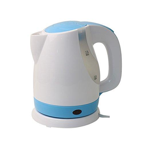 電気ケトル おしゃれ 1L ケトル コンパクト サイズ 急速沸騰 電気 水量が分かる 自動電源オフ ワンタッチ開閉 お湯 電気ポッド やかん 湯沸し ポット |HAC1012-BU(ブルー)