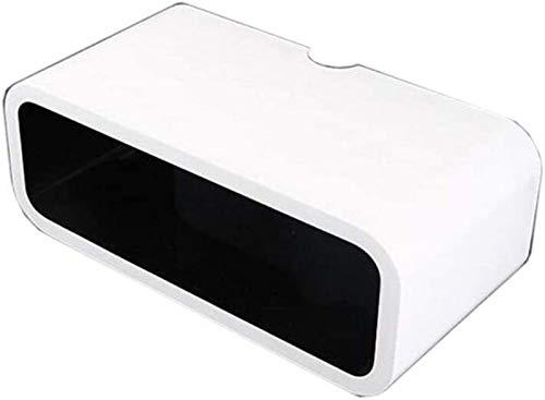 Rack de enrutador Estanterías DVD DVD estante decorativo, estante de almacenamiento de pared, caja de almacenamiento enrutador, caja de almacenamiento de pared de TV, diseño de doble orificio Estante