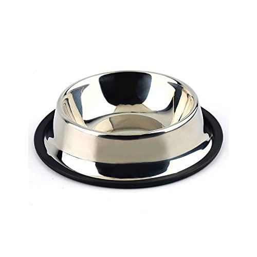 YUZHUKUNGMZCWW Comedero Gato, 1 PC Tazón de agua para bebidas de agua de acero inoxidable Tazón para perros para perros Cats Puppy plato No patinar impermeable alimento alimento cuencos de perro sumin
