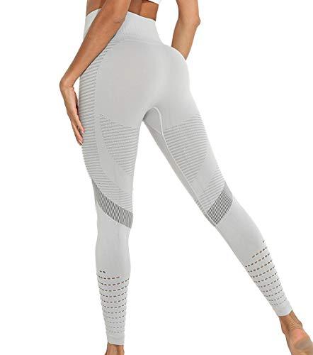 KIWI RATA Leggings Deportivos sin Costuras Mujer Mallas Push Up Cintura Alta Yoga Leggins Pantalón Moda Pantalones Deporte para Correr Fitness Elásticos y Transpirables