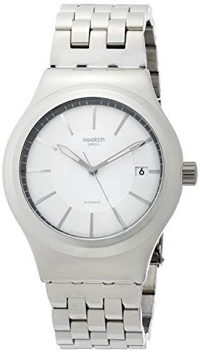 Swatch Unisex Erwachsene Analog Automatik Uhr mit Edelstahl Armband YIS421G