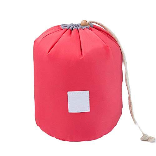 Trousse de maquillage Étanche Trousse de toilette Voyage Mignon Simple Cylindre Wash Wash Bag Red Creative and utile Portable et utile