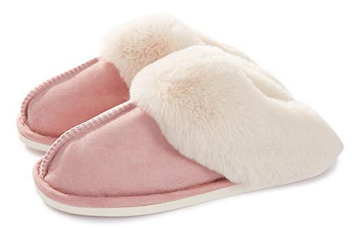 Pantofole Scamosciate da Donna Uomo Interne Casa Morbida Autunno Inverno Memoria Schiuma Pavimento Indoor Outdoor, 36.5/38 EU