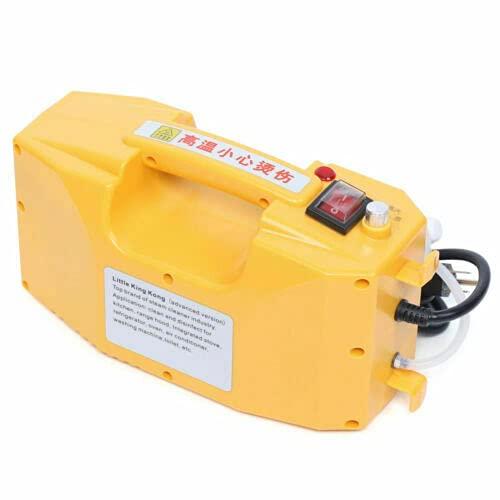 Pulitore a vapore elettrico ad alta pressione, macchina di pulizia a vapore, alta temperatura, 2600 W, controllo di temperatura automatica, anti-secco, usato in Commerce, la cucina, colore: giallo