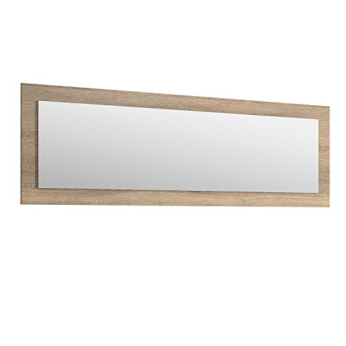 duehome HomeSouth - Espejo Rectangular, Modelo Julieta, Acabado en Color Cambria, Medidas: 55 cm (Alto) x 167 cm (Ancho) x 2 cm (Fondo)