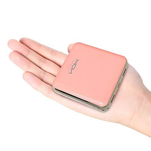 モバイルバッテリー 大容量 20000mah 軽量 小型 急速充電 LCD残量表示 2in1入力 Lightning/Micro USB入力ポート2.1A出力 2USB出力ポート 携帯充電器 スマホバッテリー PSE認証済 MOXNICE iPhone/Android各種対応 (桜ピンク)