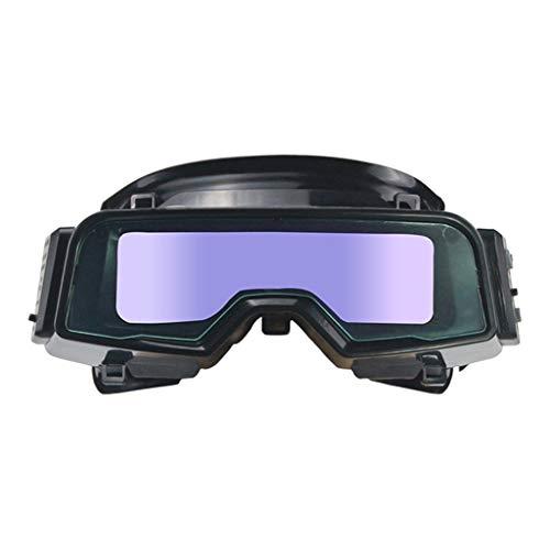 Amagogo Gafas para Soldar con Energía Solar - Máscara para Soldar con Oscurecimiento Automático Gafas para Casco