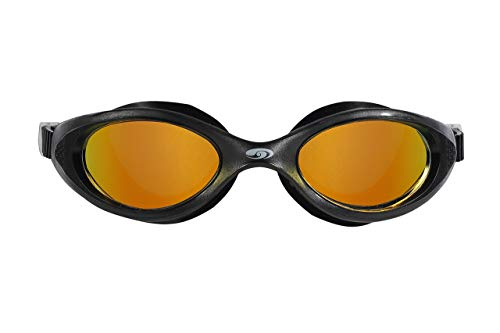 blueseventy Hydra Vision Goggles - for Triathlon, Pool and Open Water Swimming (Black, Rainbow Mirror)