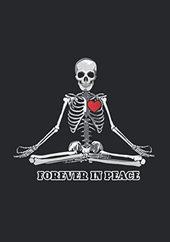 Notizbuch A5 liniert mit Softcover Design: Forever in Peace - Für immer in Frieden: 120 linierte DIN A5 Seiten