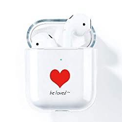 Compatibility : This case is precisely designed for AirPods 2 & 1 charging box. Made by opening the mold, it fits perfectly in your Airpods case. The split design allows the cover to open up to 90 ° Ultra Transpatent Silicone Material : The airpods c...