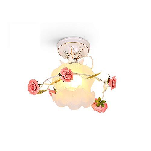Rústica Estilo Lámpara de Techo Flores Luz de Techo Creativo Cerámica Roses Art Plafón Lámpara Florentino Estilo Iluminación Interior Decoración Para Cocina Dormitorio Salón Pasillo Escalera Balcón