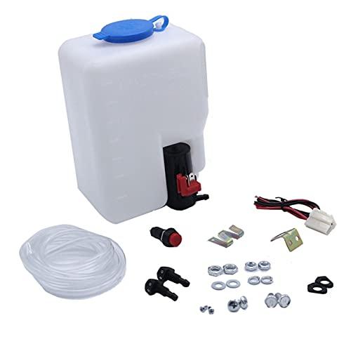 Crying Kit de Botellas de Lavadora de Parabrisas 12V Fit para Beetle Kit Classic Cars 110943769329 Bottle Bump Hose Jets Interruptor de cableado
