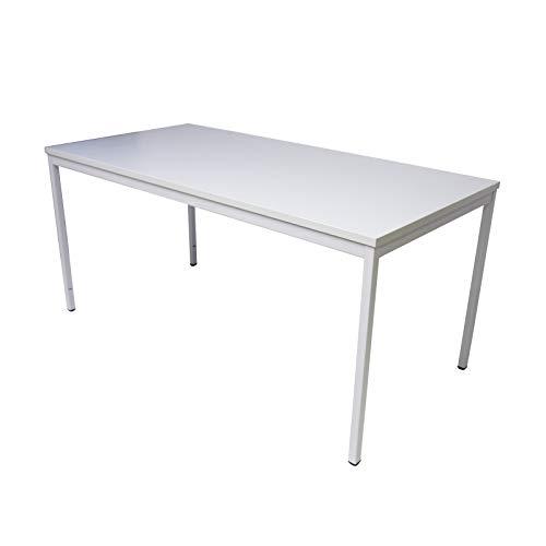 ADB Bürotisch Computertisch Schreibtisch Büro PC Arbeitstisch Stahlrohr-Tisch grau 1600x800x750 mm